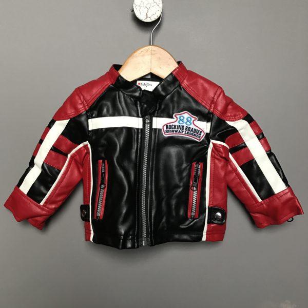faux leather jacker kids edgars